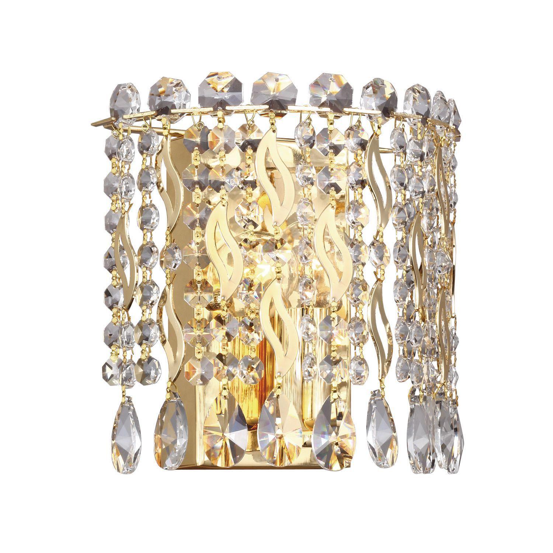 Бра Favourite Celebrity 2048-1W, 1xE14x40W, золото, прозрачный, металл, хрусталь - фото 1