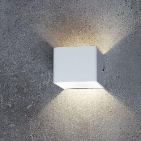Настенный светодиодный светильник Favourite Twinser 1998-1W, IP41, LED SMD 2835 5W 380lm CRI>80, белый, металл