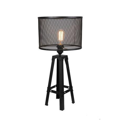 Настольная лампа Favourite Reticulum 1967-1T, 1xE27x60W, черный, металл
