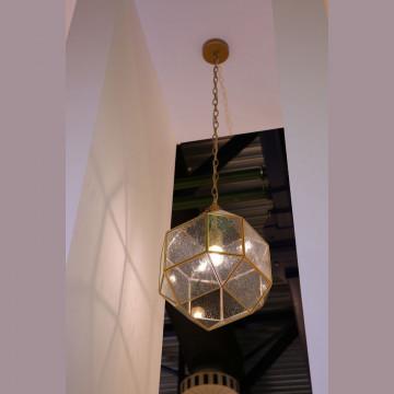 Подвесной светильник Favourite Quadratum 1948-1P, 1xE27x60W, матовое золото, прозрачный, металл, стекло - миниатюра 2