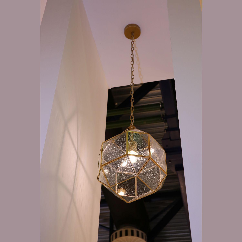 Подвесной светильник Favourite Quadratum 1948-1P, 1xE27x60W, матовое золото, прозрачный, металл, стекло - фото 2