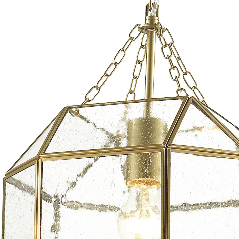 Подвесной светильник Favourite Quadratum 1948-1P, 1xE27x60W, матовое золото, прозрачный, металл, стекло - фото 3