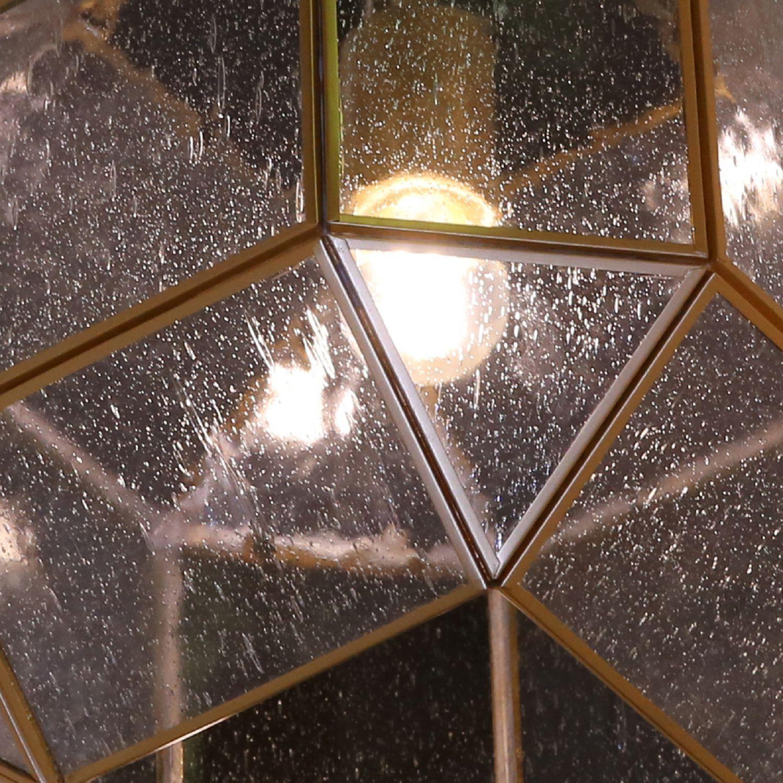 Подвесной светильник Favourite Quadratum 1948-1P, 1xE27x60W, матовое золото, прозрачный, металл, стекло - фото 4