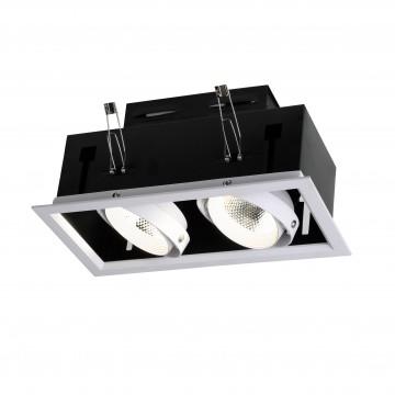 Встраиваемый светодиодный светильник Favourite Flashled 1985-2C, LED 24W 4000K (дневной), белый, черный, металл