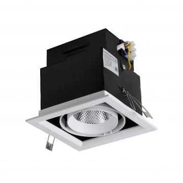 Встраиваемый светодиодный светильник Favourite FlashLED 1985-1C, 4000K (дневной), белый, черный, металл