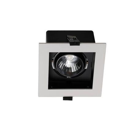 Встраиваемый светодиодный светильник Favourite FlashLED 1988-1C, LED 10W 4000K, черно-белый, белый, черный, металл