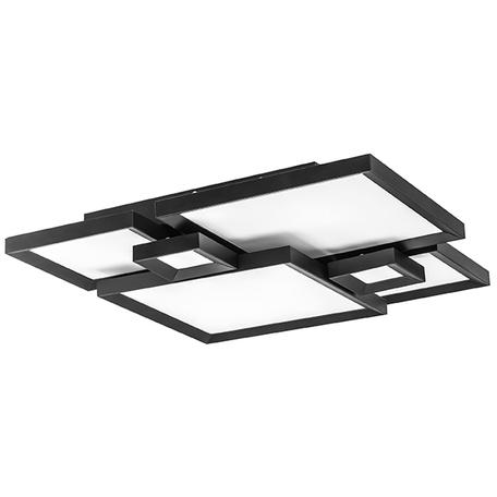 Потолочная светодиодная люстра Lightstar Breve 749071, LED 100W 3000K 9300lm, коричневый, металл, металл с пластиком