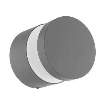 Настенный светодиодный светильник Eglo Melzo 97301, IP44, LED 11W 3000K 950lm, серебро, металл с пластиком, пластик