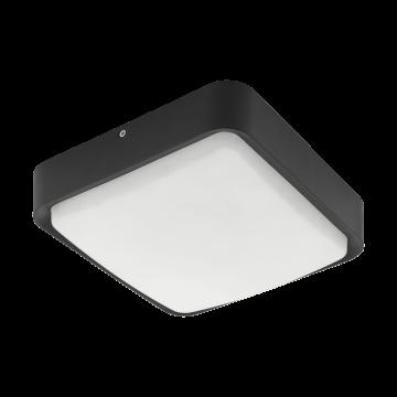 Настенный светодиодный светильник с пультом ДУ Eglo Piove-C 97295, IP44, LED 14W 3000K 1400lm, черный, белый, металл, пластик