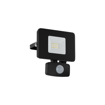 Светодиодный прожектор Eglo Faedo 3 97459, IP44, LED 10W 5000K 900lm, черный, металл, металл со стеклом, стекло