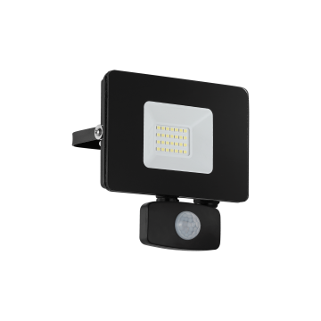 Светодиодный прожектор Eglo Faedo 3 97461, IP44, LED 20W 5000K 1800lm, черный, металл, металл со стеклом, стекло