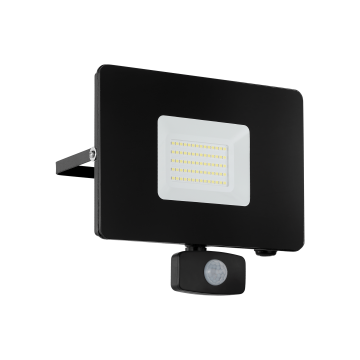 Светодиодный прожектор Eglo Faedo 3 97463, IP44, LED 50W, черный, металл, стекло