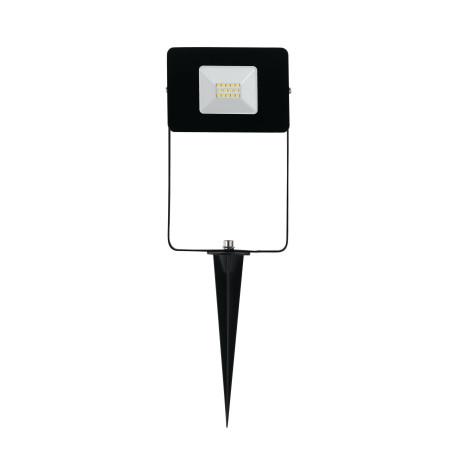 Светодиодный прожектор с колышком Eglo Faedo 4 97471, IP44, LED 10W 5000K 900lm, черный, металл, металл со стеклом, стекло