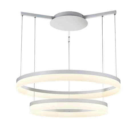 Подвесной светодиодный светильник Azzardo Zola AZ1295, LED 56W 5600lm, белый, металл, пластик