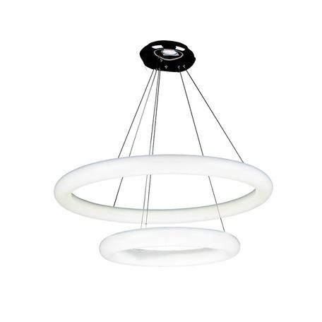 Подвесной светодиодный светильник Azzardo Angel AZ1319, LED 55W 3850lm, хром, белый, металл, пластик