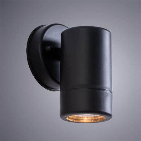 Настенный светильник Arte Lamp Atlas A3503AL-1BK, IP44, 1xGU10x7W, черный, пластик