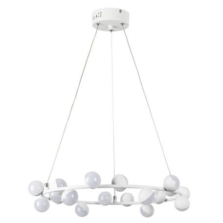 Подвесная светодиодная люстра Arte Lamp Dexter A3619SP-18WH, LED 55W 4000K 2500lm CRI≥70, белый, металл, металл с пластиком