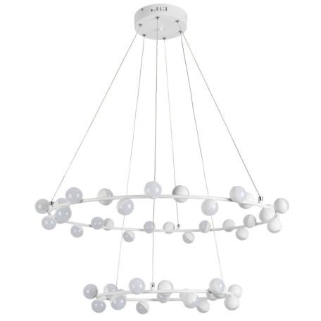 Подвесная светодиодная люстра Arte Lamp Dexter A3619SP-48WH, LED 140W 4000K 5000lm CRI≥70, белый, металл, металл с пластиком