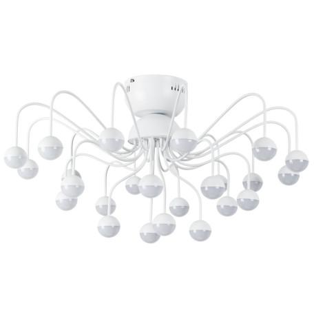 Потолочная светодиодная люстра Arte Lamp Dexter A3619PL-24WH, LED 72W 4000K 3000lm CRI≥70, белый, металл, металл с пластиком