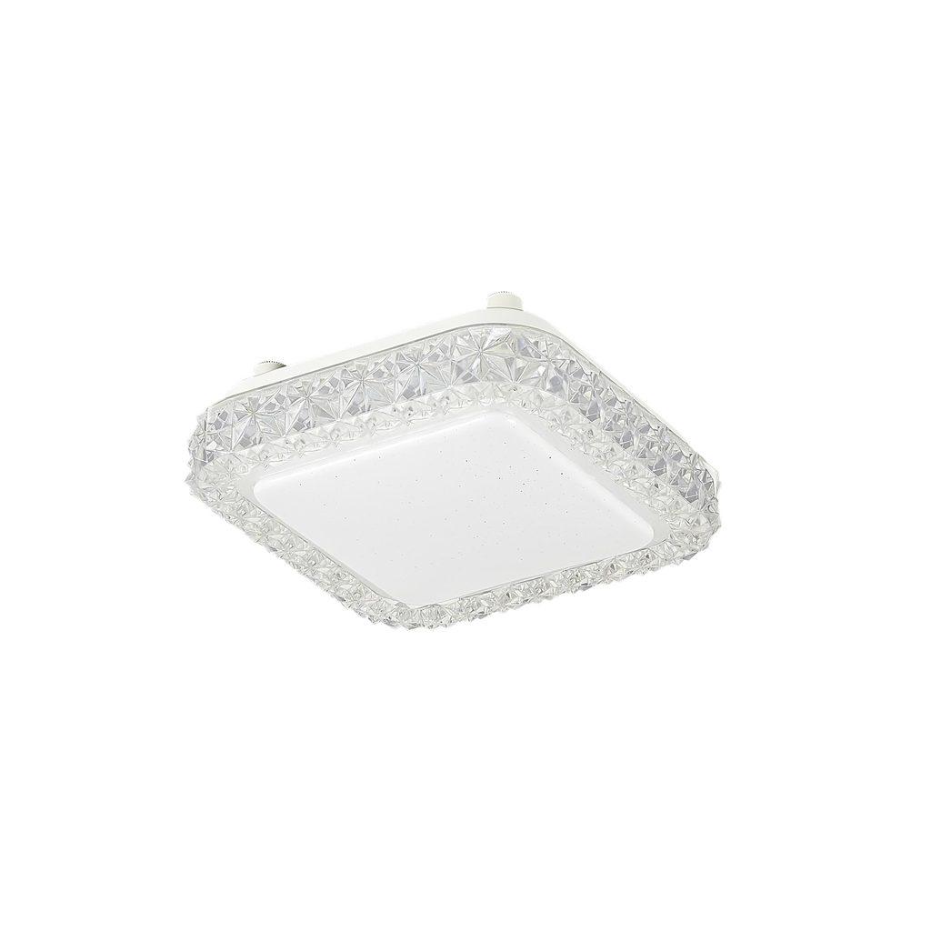 Потолочный светодиодный светильник Citilux Кристалино Слим CL715K120, LED 12W 3000K 900lm, белый, металл, пластик - фото 1