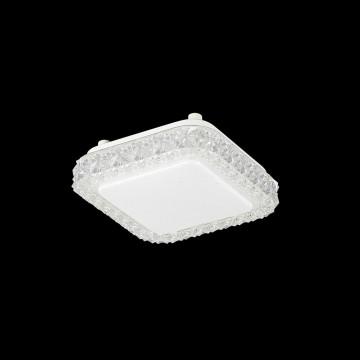 Потолочный светодиодный светильник Citilux Кристалино Слим CL715K120, LED 12W 3000K 900lm, белый, металл, пластик - миниатюра 2