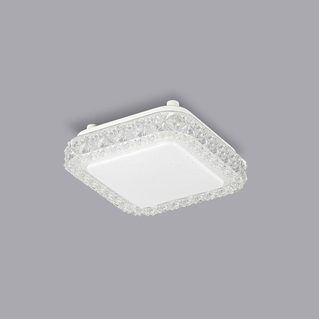 Потолочный светодиодный светильник Citilux Кристалино Слим CL715K120, LED 12W 3000K 900lm, белый, металл, пластик - фото 3