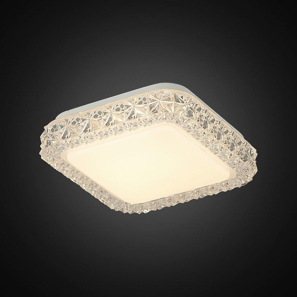 Потолочный светодиодный светильник Citilux Кристалино Слим CL715K120, LED 12W 3000K 900lm, белый, металл, пластик - фото 4