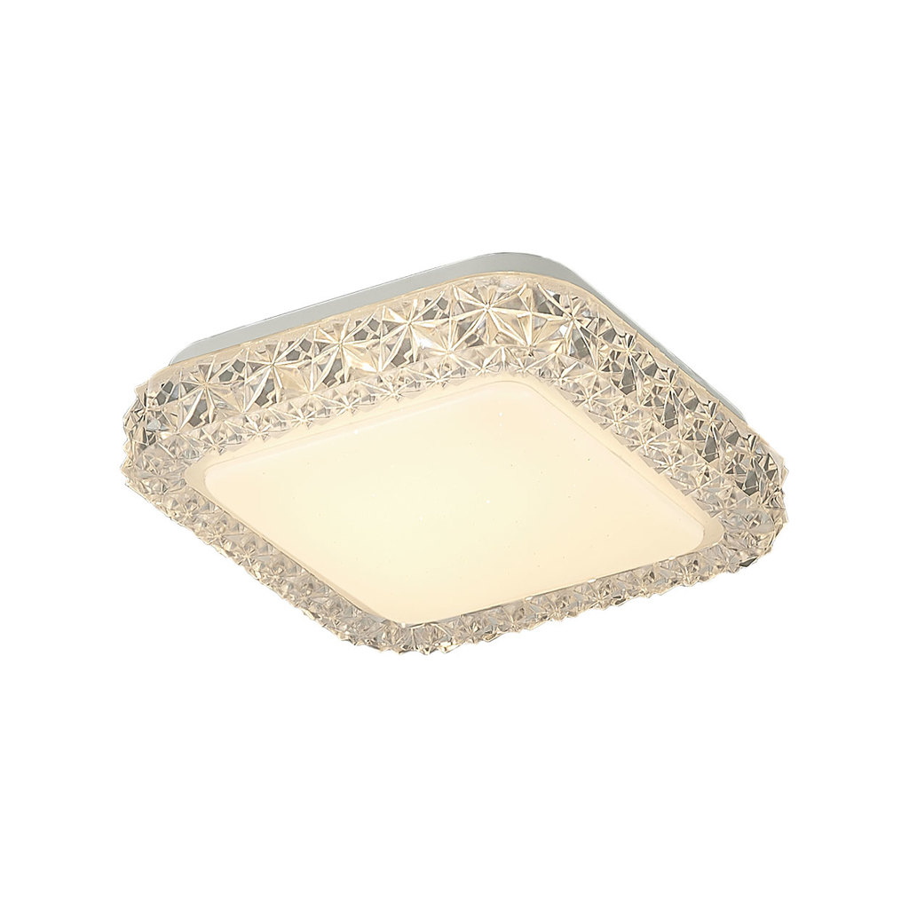 Потолочный светодиодный светильник Citilux Кристалино Слим CL715K120, LED 12W 3000K 900lm, белый, металл, пластик - фото 5