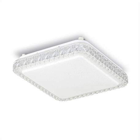 Потолочный светодиодный светильник Citilux Кристалино Слим CL715K180, LED 18W 3000K 1350lm, белый, металл, пластик