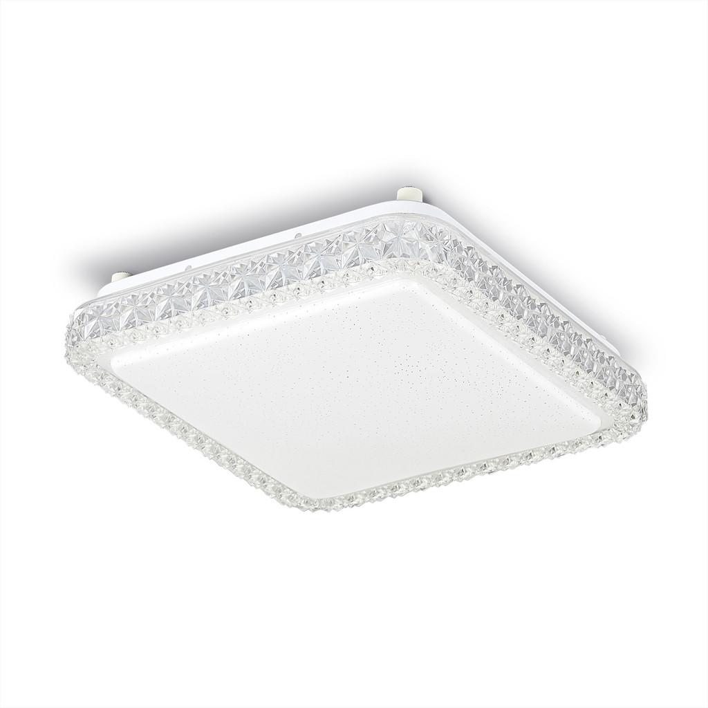 Потолочный светодиодный светильник Citilux Кристалино Слим CL715K180 3000K (теплый), белый, прозрачный, металл, пластик - фото 1