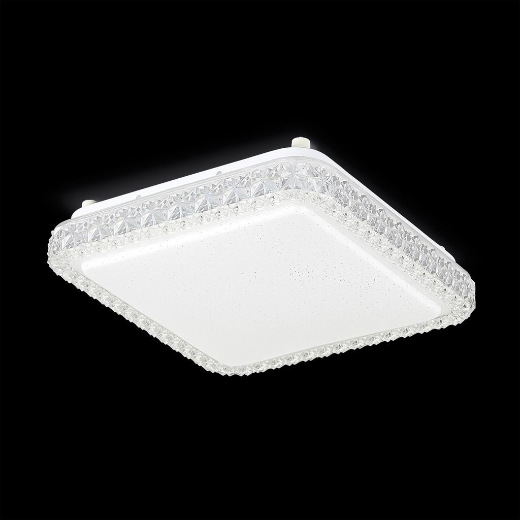 Потолочный светодиодный светильник Citilux Кристалино Слим CL715K180 3000K (теплый), белый, прозрачный, металл, пластик - фото 2