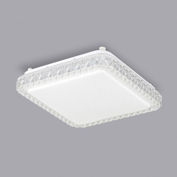 Потолочный светодиодный светильник Citilux Кристалино Слим CL715K180 3000K (теплый), белый, прозрачный, металл, пластик - миниатюра 3
