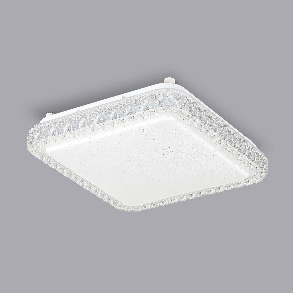 Потолочный светодиодный светильник Citilux Кристалино Слим CL715K180 3000K (теплый), белый, прозрачный, металл, пластик - фото 3