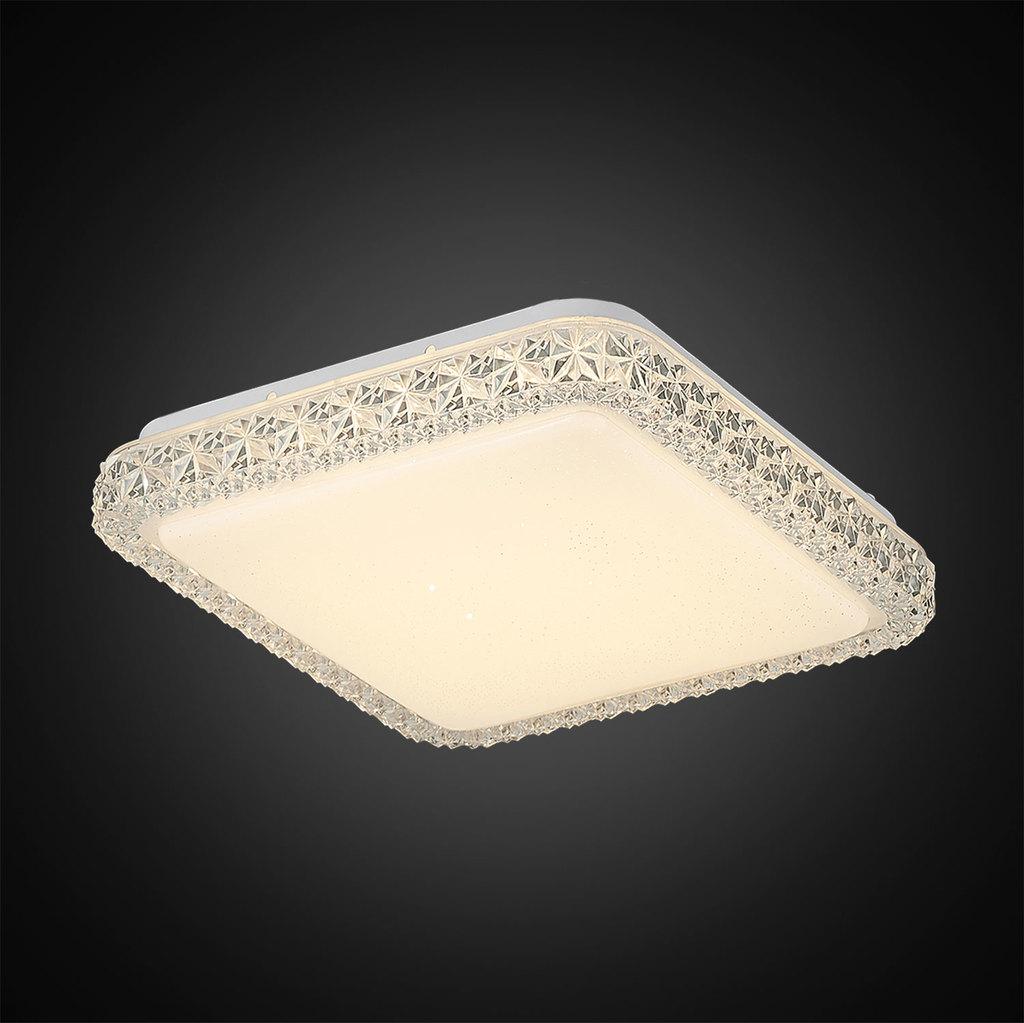 Потолочный светодиодный светильник Citilux Кристалино Слим CL715K180 3000K (теплый), белый, прозрачный, металл, пластик - фото 4