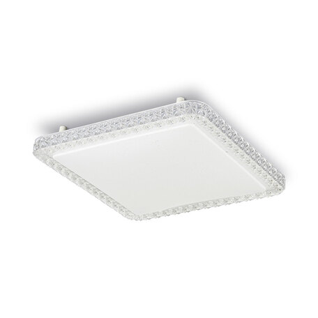 Потолочный светодиодный светильник Citilux Кристалино Слим CL715K360, LED 36W 3000K 2700lm, белый, металл, пластик
