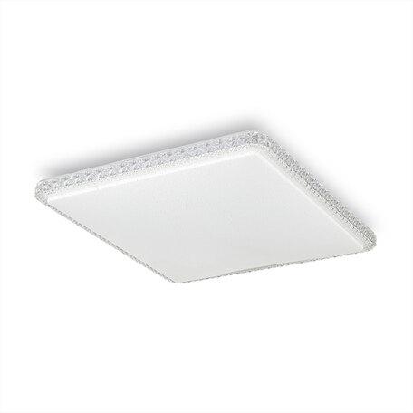 Потолочный светодиодный светильник Citilux Кристалино Слим CL715K720, LED 72W 3000K 5400lm, белый, металл, пластик