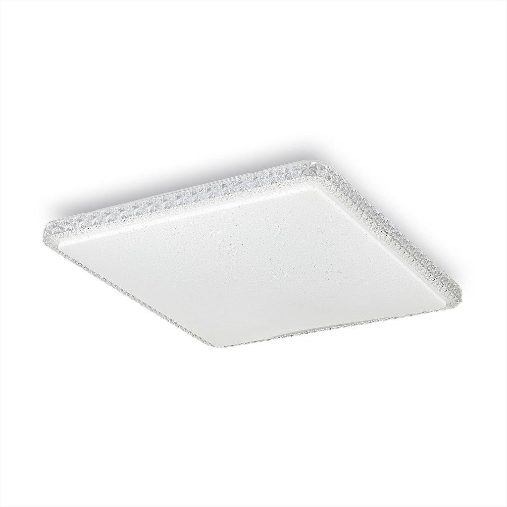 Потолочный светодиодный светильник Citilux Кристалино Слим CL715K720, LED 72W 3000K 5400lm, белый, металл, пластик - фото 1
