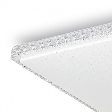Потолочный светодиодный светильник Citilux Кристалино Слим CL715K720, LED 72W 3000K 5400lm, белый, металл, пластик - миниатюра 3