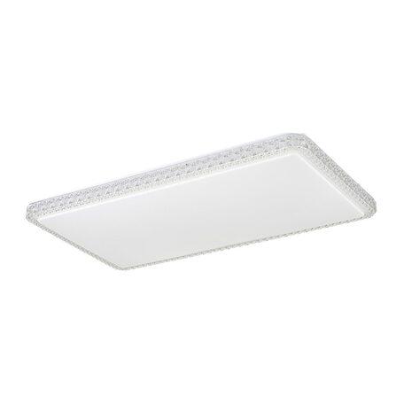 Потолочный светодиодный светильник Citilux Кристалино Слим CL715P600, LED 60W 3000K 4500lm, белый, металл, пластик