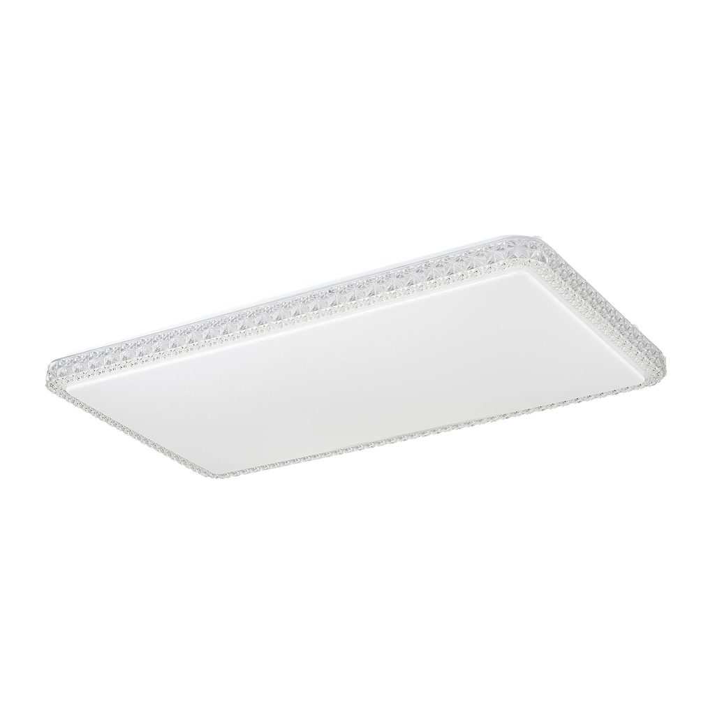 Потолочный светодиодный светильник Citilux Кристалино Слим CL715P600, 3000K (теплый), белый, прозрачный, металл, пластик - фото 1
