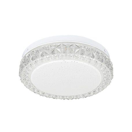 Потолочный светодиодный светильник Citilux Кристалино Слим CL715R120, белый, прозрачный, металл, пластик