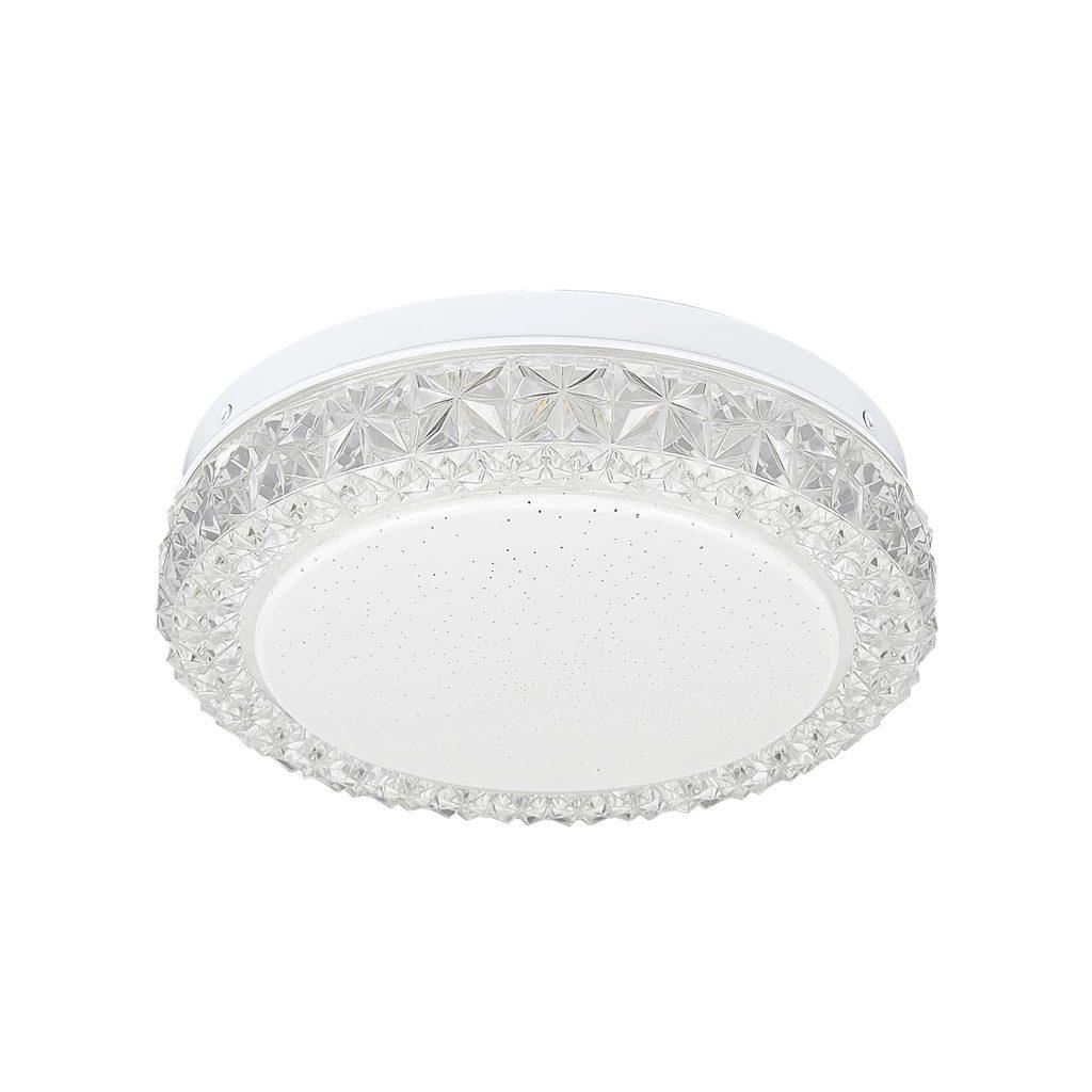 Потолочный светодиодный светильник Citilux Кристалино Слим CL715R120, белый, прозрачный, металл, пластик - фото 1