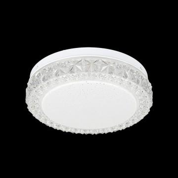 Потолочный светодиодный светильник Citilux Кристалино Слим CL715R120, белый, прозрачный, металл, пластик - миниатюра 2