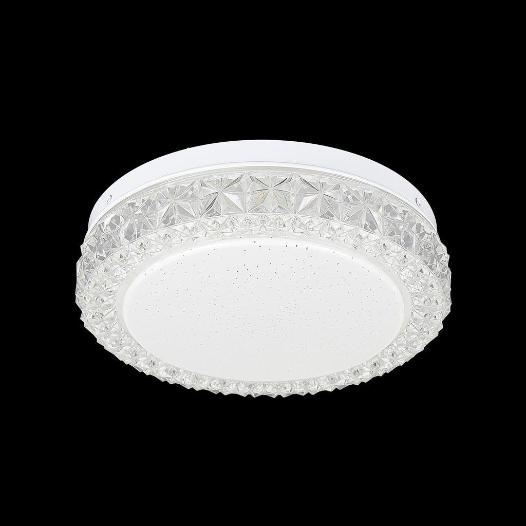 Потолочный светодиодный светильник Citilux Кристалино Слим CL715R120, белый, прозрачный, металл, пластик - фото 2