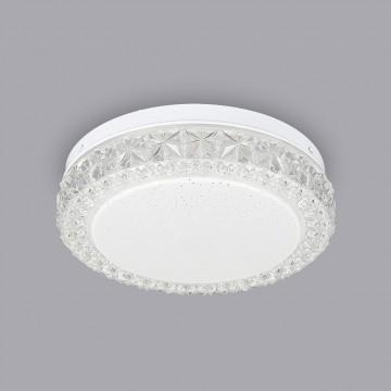 Потолочный светодиодный светильник Citilux Кристалино Слим CL715R120, белый, прозрачный, металл, пластик - миниатюра 3