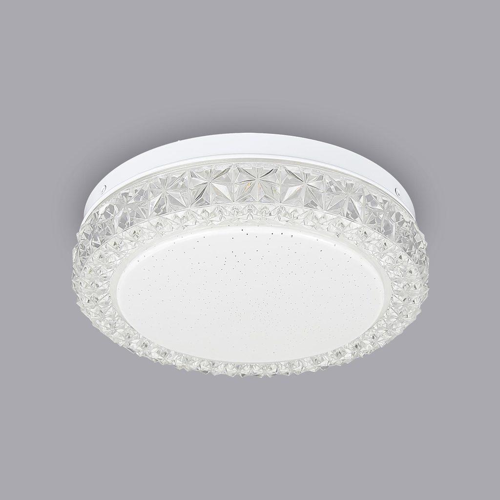 Потолочный светодиодный светильник Citilux Кристалино Слим CL715R120, белый, прозрачный, металл, пластик - фото 3