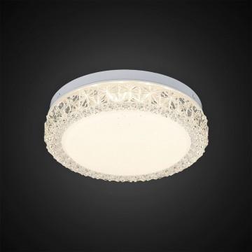 Потолочный светодиодный светильник Citilux Кристалино Слим CL715R120, белый, прозрачный, металл, пластик - миниатюра 4