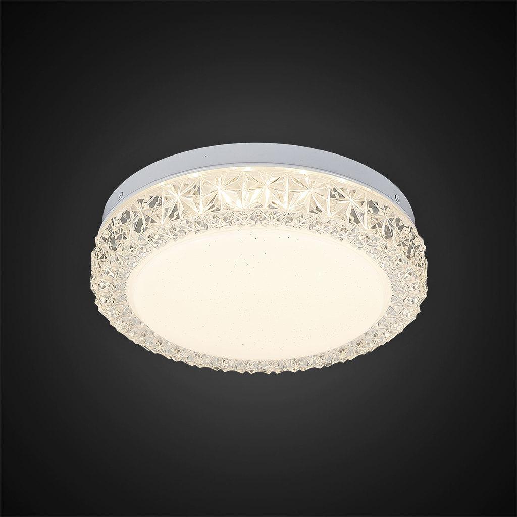Потолочный светодиодный светильник Citilux Кристалино Слим CL715R120, белый, прозрачный, металл, пластик - фото 4