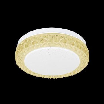 Потолочный светодиодный светильник Citilux Кристалино Слим CL715R122, LED 12W 3000K 900lm, белый, желтый, металл, пластик - миниатюра 2