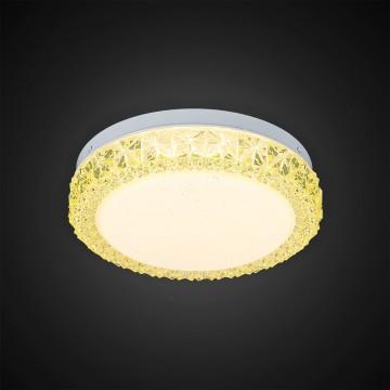 Потолочный светодиодный светильник Citilux Кристалино Слим CL715R122, LED 12W 3000K 900lm, белый, желтый, металл, пластик - миниатюра 4